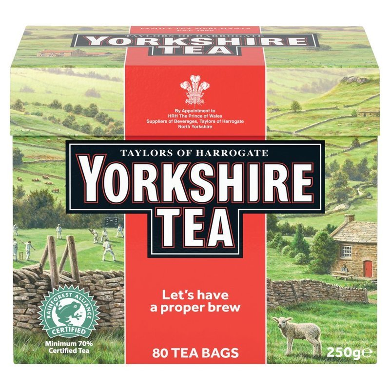 TAYLORS OF HARROGATE YORKSHIRE TEA TE' NERO (80 BUSTINE)
