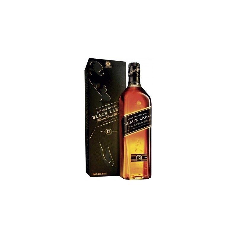 WHISKY JOHNNIE WALKER BLACK LABEL INVECCHIATO 12 ANNI