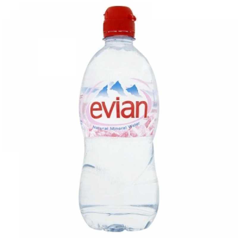 EVIAN WATER 0,33L sports cap