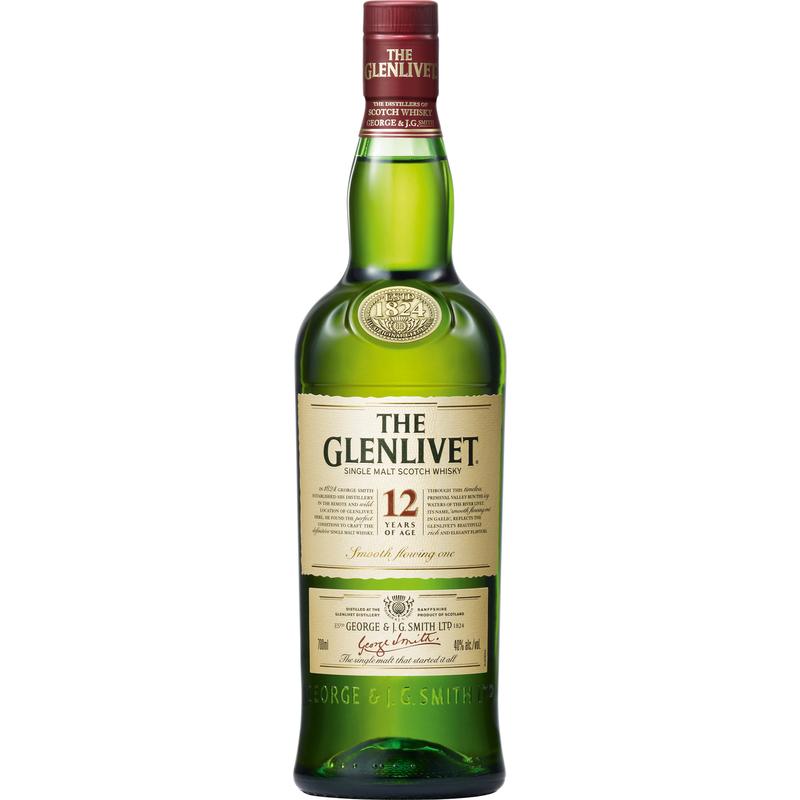 THE GLENLIVET SINGLE MALT SCOTCH WHISKY 12YO