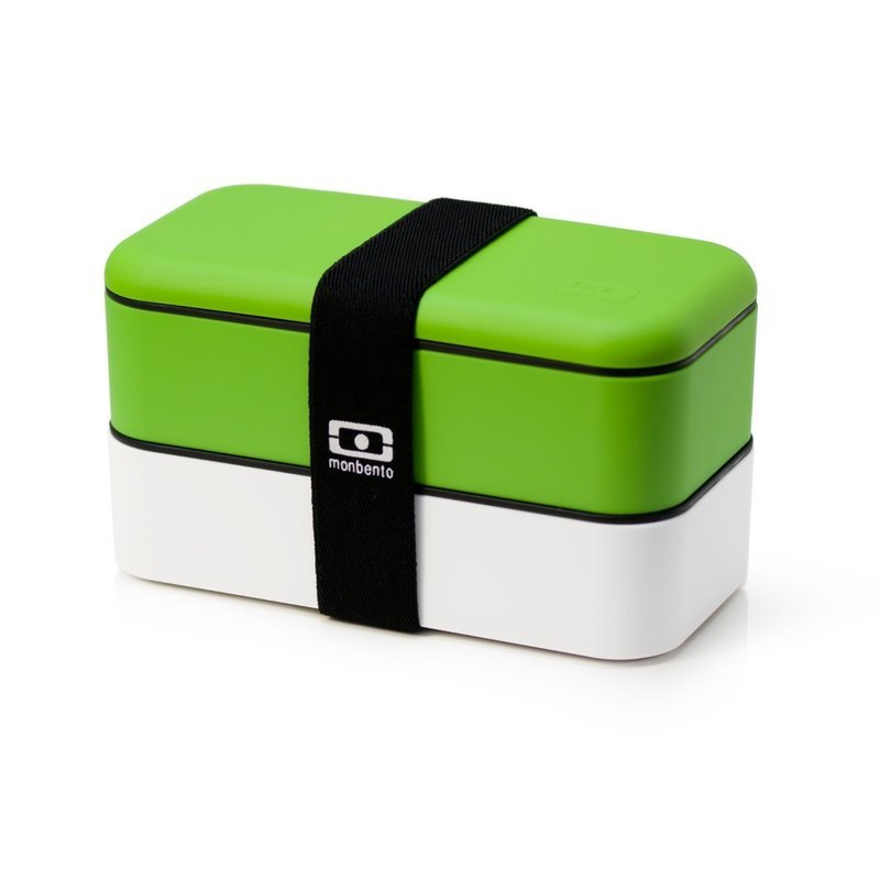 MONBENTO DOUBLE RECTANGULAR GREEN