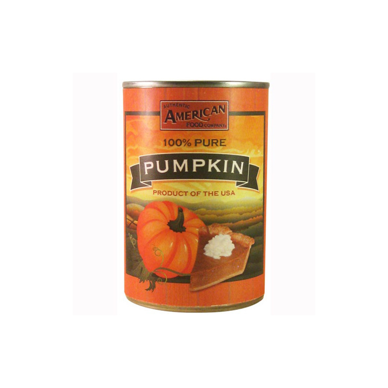 AUTHENTIC AMERICAN FOOD COMPANY CANNED PUMPKIN 425G