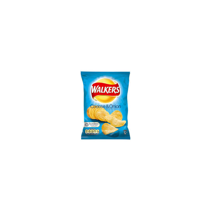 WALKERS CRISPS CHEESE AND ONION 60g