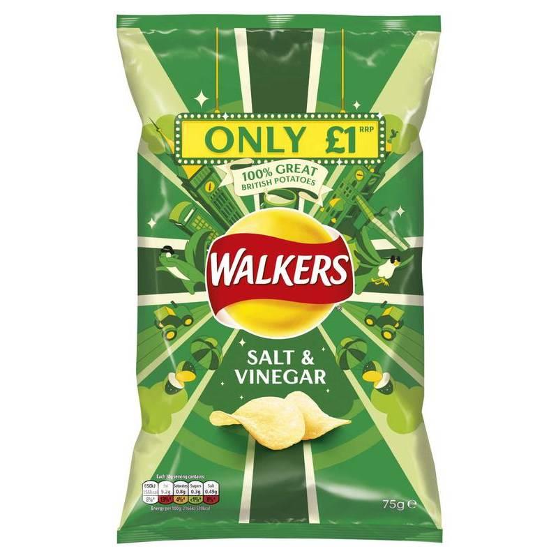 WALKER'S SALT & VINEGAR CHIPS 65G