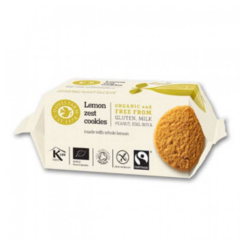 DOVES FARM LEMON ZEST COOKIES GLUTEN FREE 150g