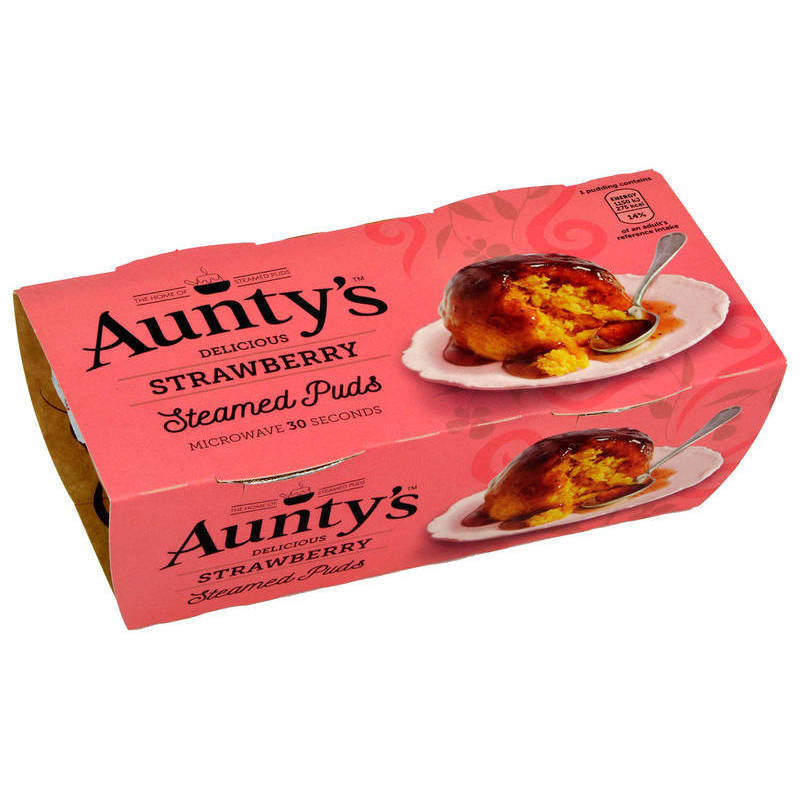 AUNTYS STRAWBERRY PUDDING (2 X 100G)