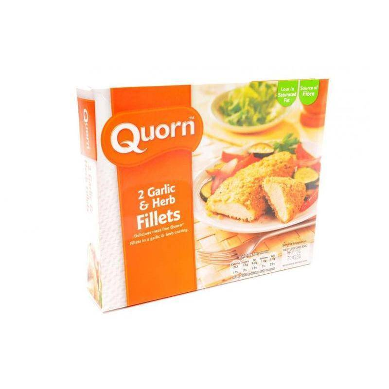 QUORN GARLIC & HERB FILLETS 2PK