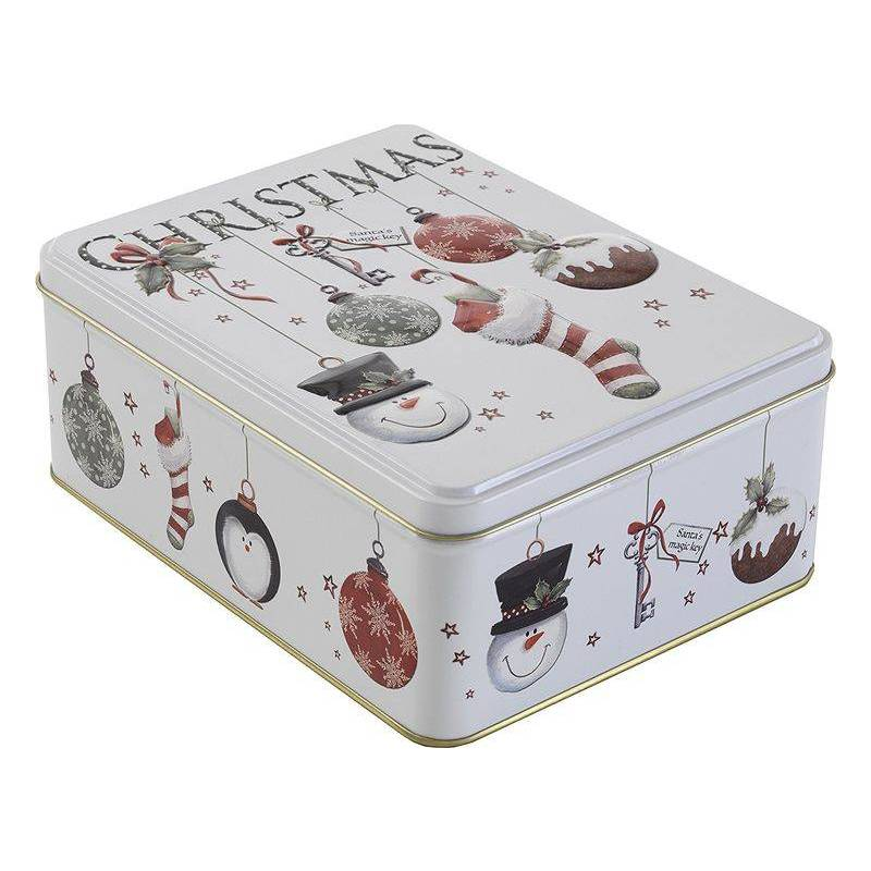 CHRISTMAS - FARMHOUSE BISCUITS BAUBLES BISCUIT TIN 400G