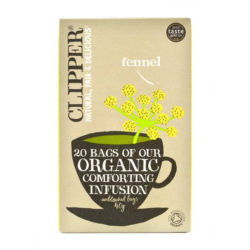 CLIPPER FENNEL TEA 20S best by 17/06/2021