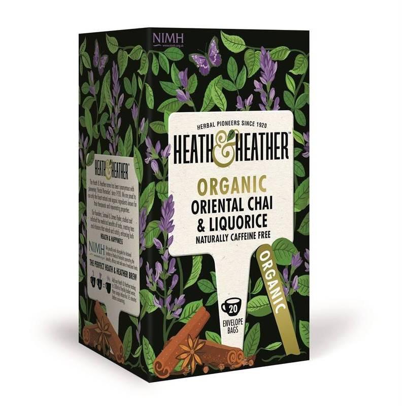 HEATH & HEATHER ORGANIC CHAI & LIQUORICE 20S