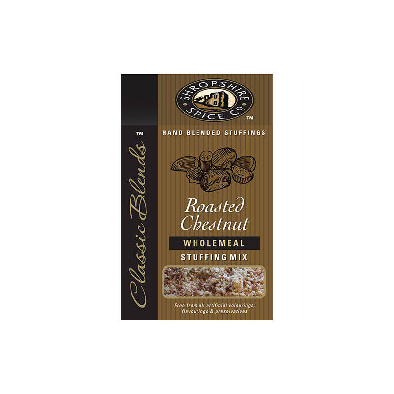 SHROPSHIRE SPICE CO. ROASTED CHESTNUT WHOLEMEAL STUFFING MIX 150G