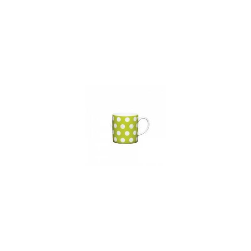 ESPRESSO CUP GREEN W DOTS