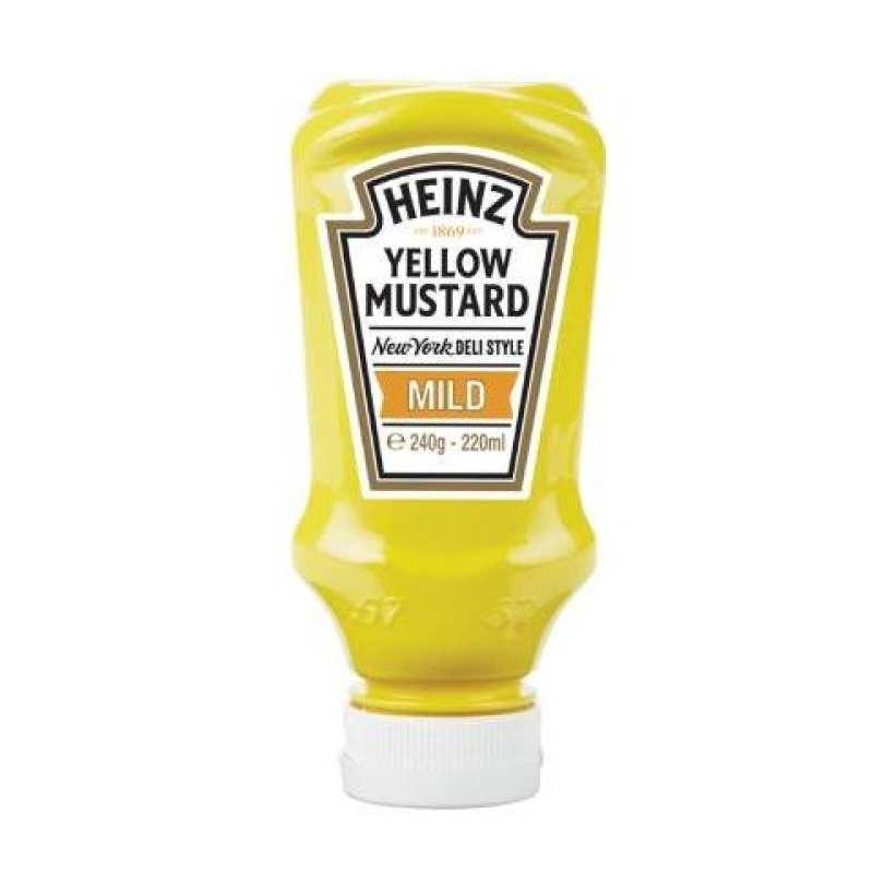 HEINZ YELLOW MUSTARD NY DELI STYLE  220ml best by 27/05/2019