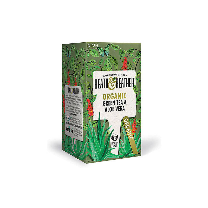 HEATH & HEATHER GREEN TEA WITH ALOE 20s