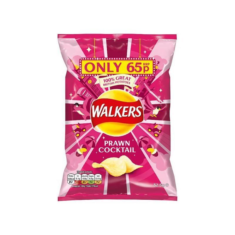 WALKERS PRAWN COCKTAIL GRAB BAG 50G