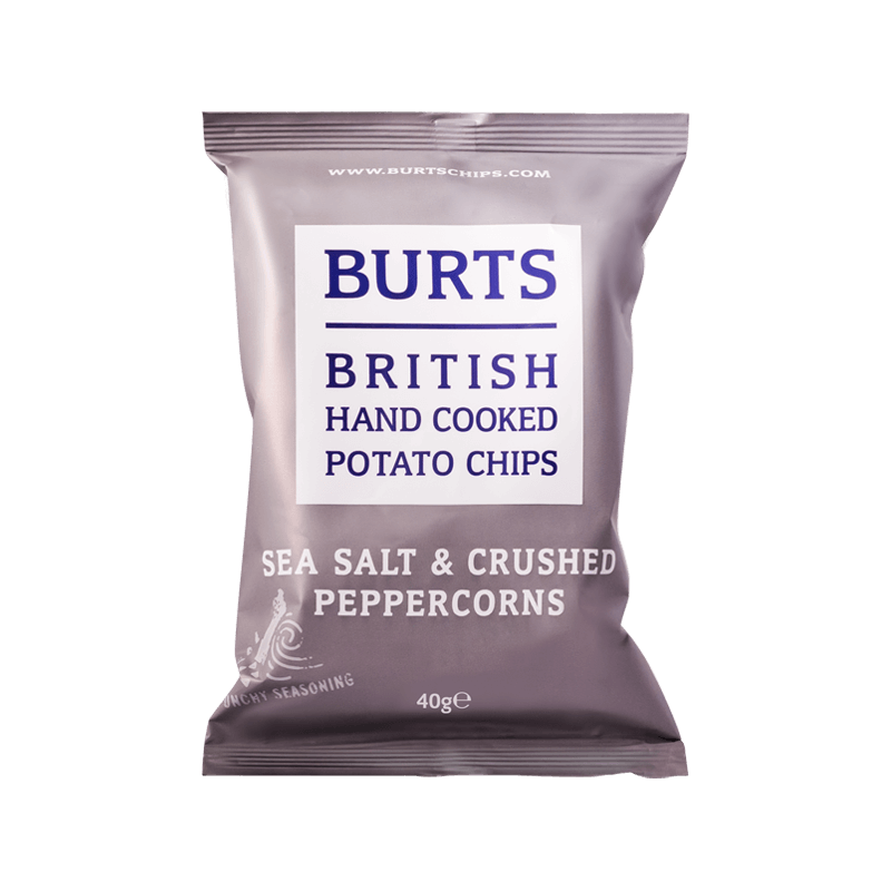 BURTS SEA SALT & PEPPERCORN CRISPS 150G