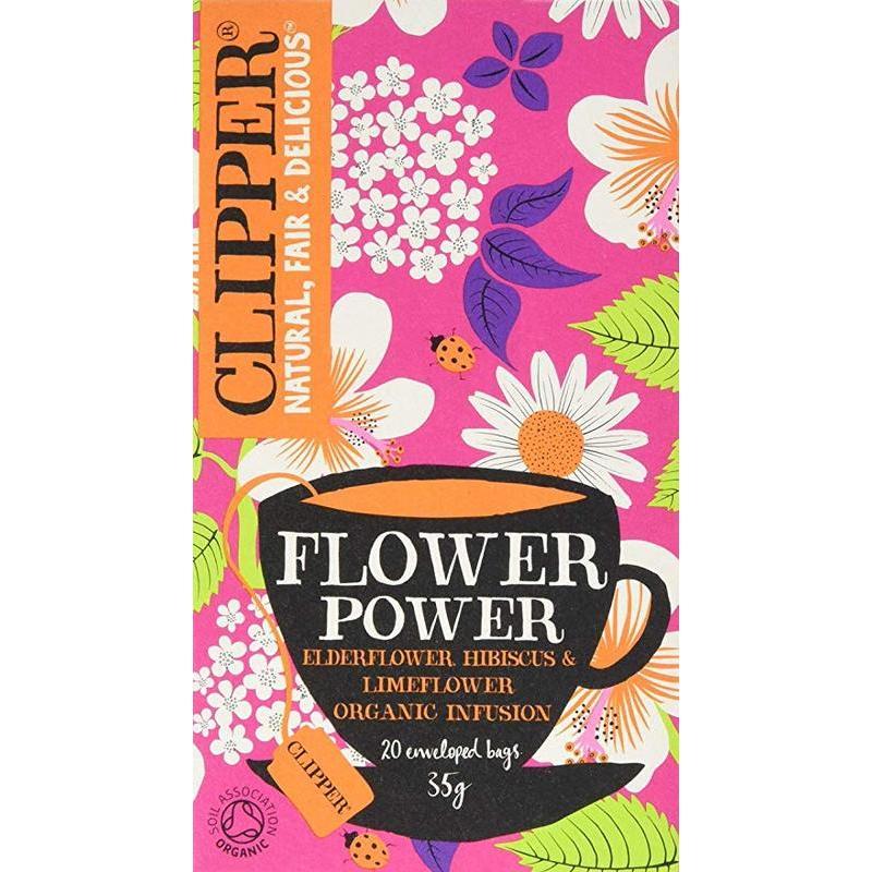 CLIPPER FLOWER POWER 20S best by 25/07/2020