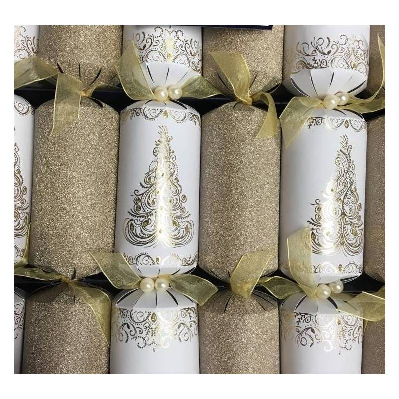 TOM SMITH GOLD CHRISTMAS CRACKERS (8)