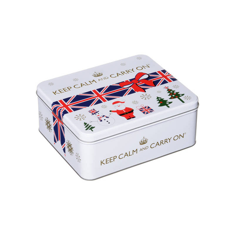 KEEP CALM AND CARRY ON (WHITE TIN) 125G