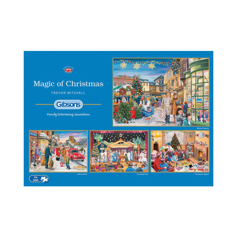 GIBSONS MAGIC OF CHRISTMAS PUZZLE 4X500PCS by trevor Mitchel