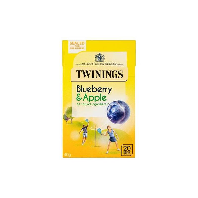 TWININGS BLUEBERRY & APPLE HERBAL TEA 20S