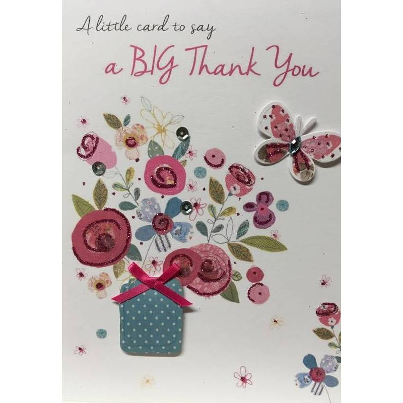 GREETING CARD - A LITTLE CARD TO SAY THANK YOU