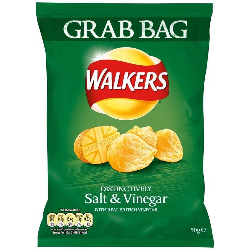 WALKERS SALT AND VINEGAR GRAB BAG 50G