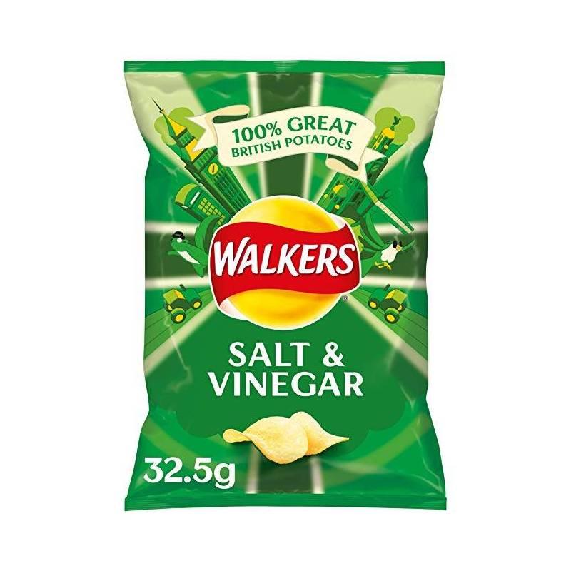 WALKER'S SALT & VINEGAR CRISPS 32.5G