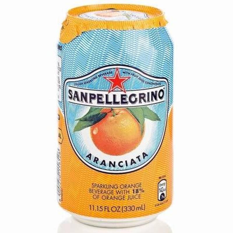 SANPELLEGRINO ORANGE CAN 330ML