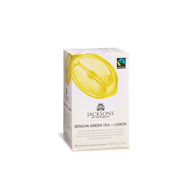 JACKSONS SENCHA GREEN TEA WITH LEMON 20 BAGS