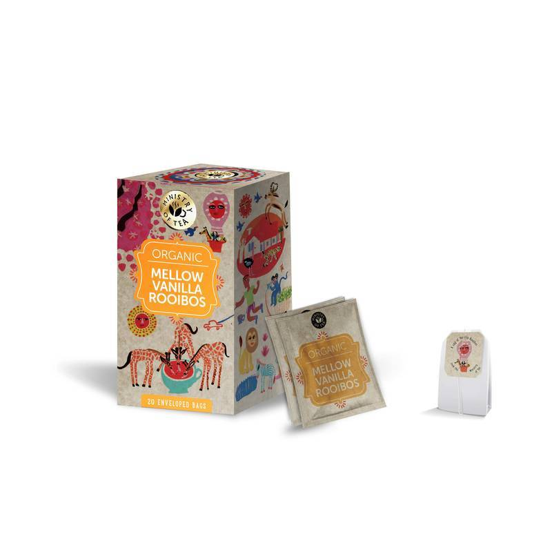 MINISTRY OF TEA MELLOW ROOIBOS WITH VANILLA 20S