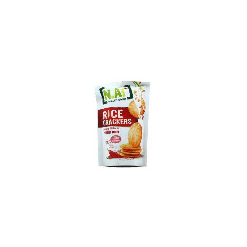 NATURE ADDICTS RICE CRACKERS SWEET CHILI 70G best by 09/2020