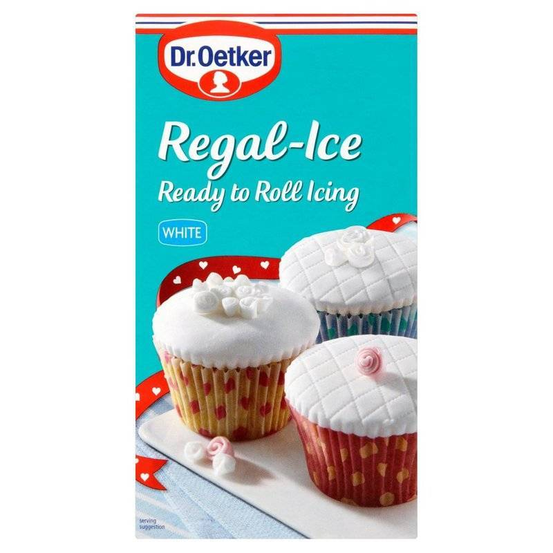 DR OETKER REGAL-ICE READY TO ROLL ICING WHITE 1kg best by 04/2021