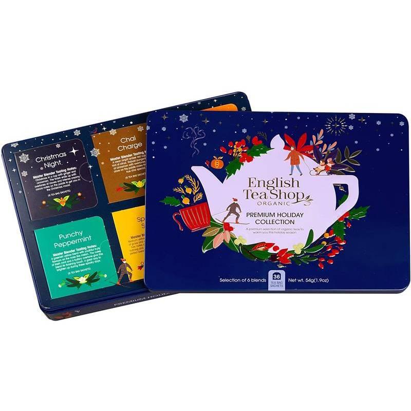ENGLISH TEA SHOP BLUE CHRISTMAS TIN 36S