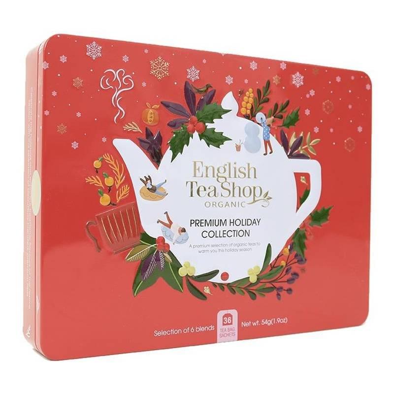 ENGLISH TEA SHOP RED CHRISTMAS TIN 36S