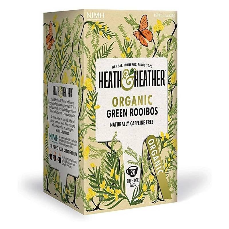 HEATH & HEATHER GREEN ROOIBOS TEA 20S