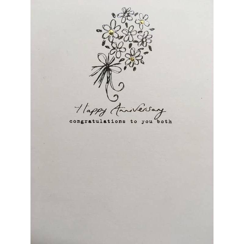 GREETING CARD - HAPPY ANNIVERSARY CONGRATULATIONS