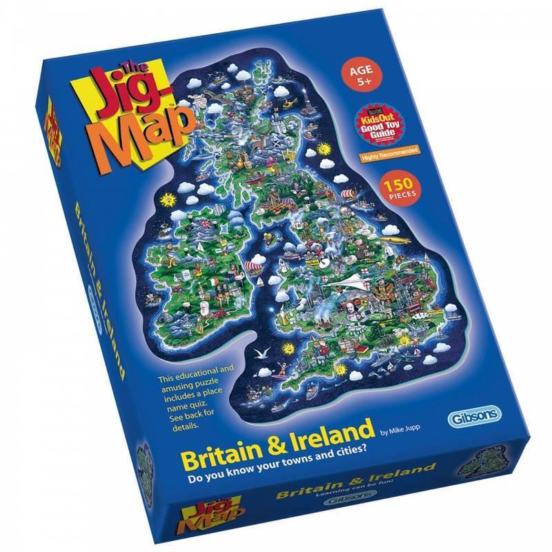 THE JIG MAP BRITAIN & IRELAND PUZZLE 150PCS
