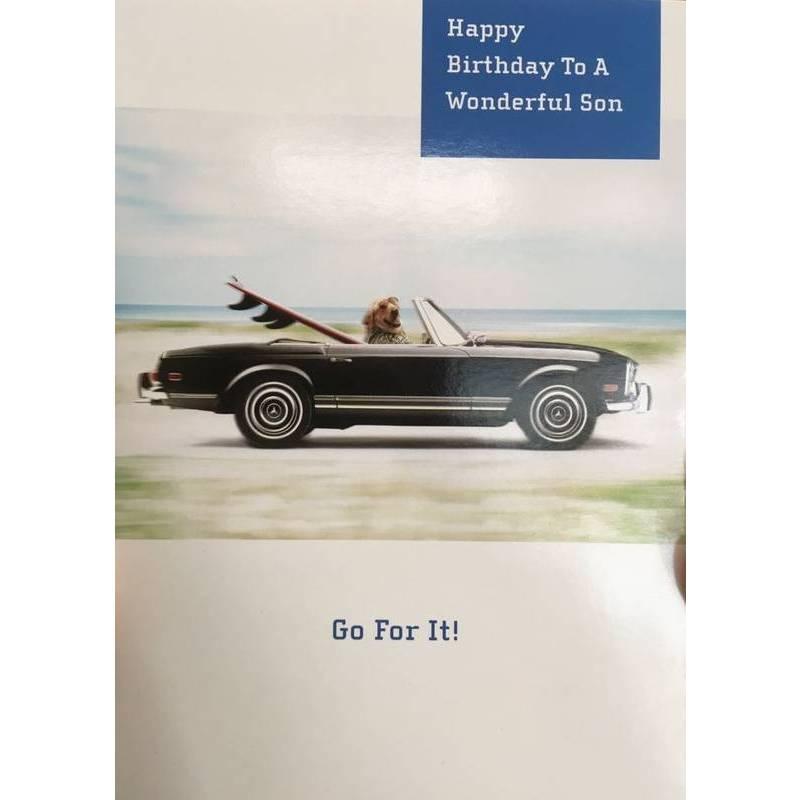 GREETING CARD - HAPPY BIRTHDAY TO A WONDERFUL SON