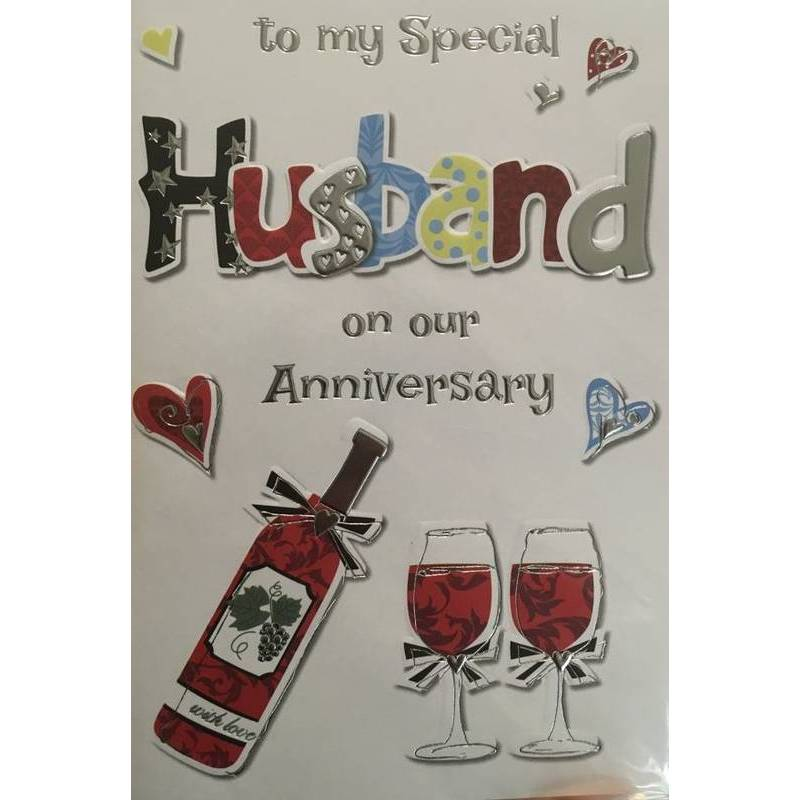 GREETING CARD - SPECIAL HUSBAND ANNIVERSARY