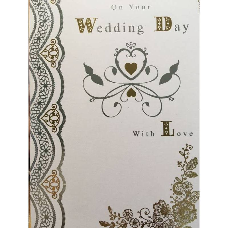 GREETING CARD - WEDDING DAY WITH LOVE