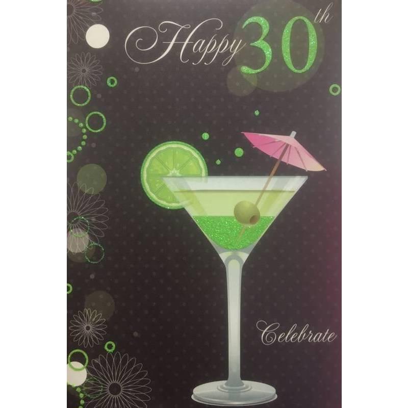 GREETING CARD - HAPPY 30TH BIRTHDAY