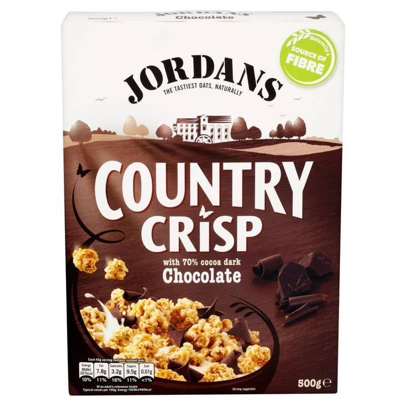 JORDANS COUNTRY CRISP DARK CHOCOLATE 400G