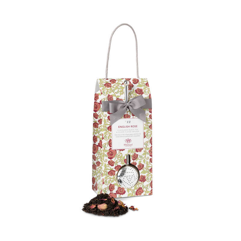 WHITTARD ENGLISH ROSE LOOSE TEA AND INFUSER 100g
