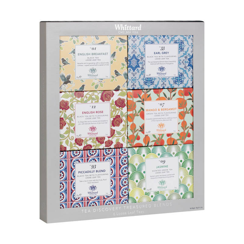WHITTARD DISCOVERY COLLECTION OF 6 LOOSE LEAF TEAS