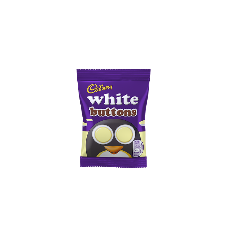 CADBURY WHITE CHOCOLATE BUTTONS 14,4g best by 09/10/2021