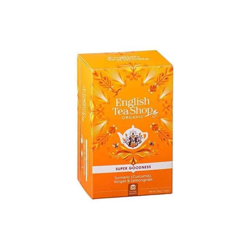 ENGLISH TEA SHOP TURMERIC, GINGER AND LEMONGRASS HERBAL TEA 20S