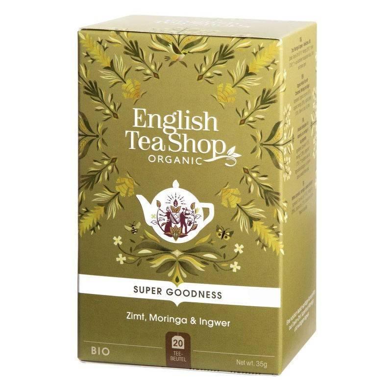 ENGLISH TEA SHOP CINNAMON, MORINGA AND GINGER HERBAL TEA 20S