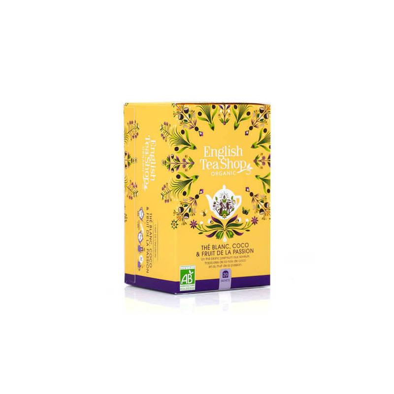 ENGLISH TEA SHOP WHITE TEA COCONUT AND PASSION FRUIT 20S