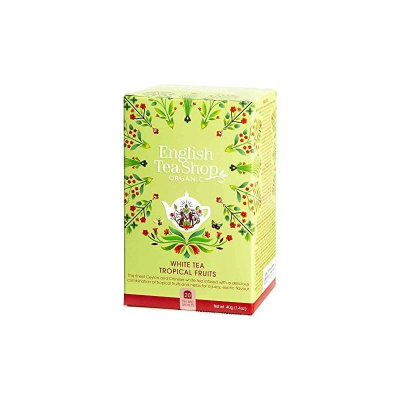 ENGLISH TEA SHOP WHITE TEA WITH TROPICAL FRUITS 20S